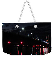 The Mighty Mac On A Calm Night Weekender Tote Bag by Keith Stokes