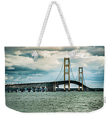 Weekender Tote Bag featuring the photograph The Mighty Mac by Onyonet  Photo Studios