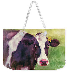 Weekender Tote Bag featuring the photograph The Milk Maid by Lois Bryan