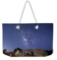 The Milky Way And A Meteor Weekender Tote Bag