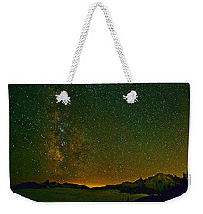 The Milky Way And Mt. Rainier Weekender Tote Bag