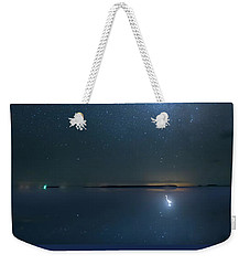 Weekender Tote Bag featuring the photograph The Milky Way And The Egret by Mark Andrew Thomas