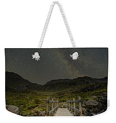 The Milky Way Over Snowdonia, North Wales Weekender Tote Bag