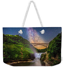 The Milky Way Over Upper Falls Weekender Tote Bag