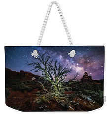 The Milky Way Tree Weekender Tote Bag