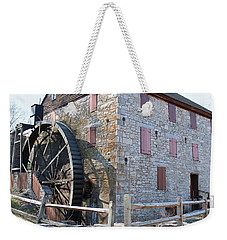 Weekender Tote Bag featuring the photograph The Mill by Melinda Blackman