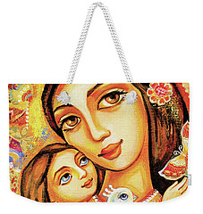 Weekender Tote Bag featuring the painting The Miracle Of Love by Eva Campbell