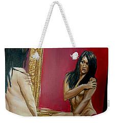 The Mirror Weekender Tote Bag by Bryan Bustard