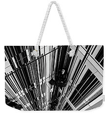 Weekender Tote Bag featuring the photograph The Mirror Room by Karen Lewis