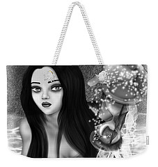 The Missing Key - Black And White Fantasy Art Weekender Tote Bag