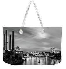 The Mississippi River Night Scene Weekender Tote Bag