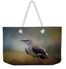 Weekender Tote Bag featuring the photograph The Mockingbird A Bird Of Many Songs by David and Carol Kelly