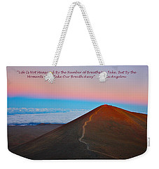 The Moments That Take Our Breath Away Weekender Tote Bag by Venetia Featherstone-Witty