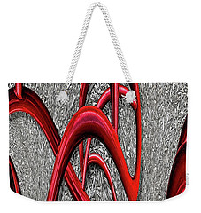 The Monday Lipstick Caper Weekender Tote Bag