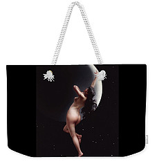 Weekender Tote Bag featuring the painting The Moon Nymph   by Pg Reproductions