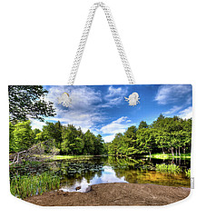 Weekender Tote Bag featuring the photograph The Moose River At Covewood by David Patterson