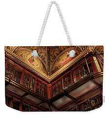 Weekender Tote Bag featuring the photograph The Morgan Library Corner by Jessica Jenney