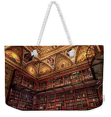 Weekender Tote Bag featuring the photograph The Morgan Library by Jessica Jenney