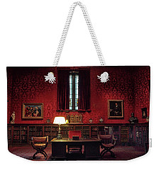 Weekender Tote Bag featuring the photograph The Morgan Library Study by Jessica Jenney