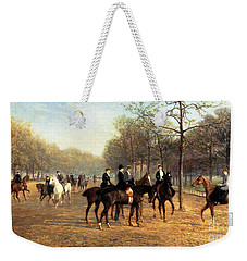 The Morning Ride Rotten Row Hyde Park Weekender Tote Bag by Heywood Hardy