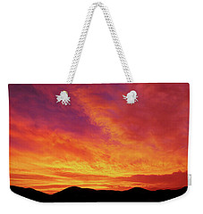 The Morning Sky Ablaze Weekender Tote Bag
