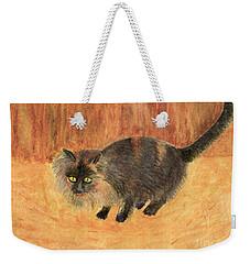 The Mouser, Barn Cat Watercolor Weekender Tote Bag