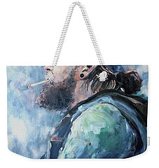 Weekender Tote Bag featuring the painting The Music Man by Diane Daigle