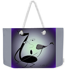 Weekender Tote Bag featuring the digital art The Musician 29 by Iris Gelbart