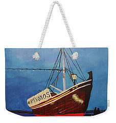 The Mykonos Boat Weekender Tote Bag