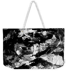 Weekender Tote Bag featuring the painting The Mystery Of Mountains by Nancy Kane Chapman