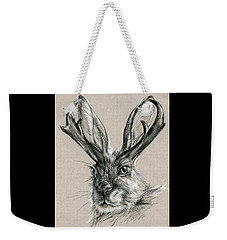 The Mythical Jackalope Weekender Tote Bag