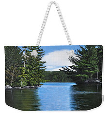 The Narrows Of Muskoka Weekender Tote Bag