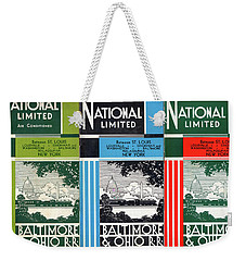 The National Limited Collage Weekender Tote Bag