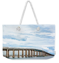Weekender Tote Bag featuring the photograph The Navarre Bridge by Shelby Young
