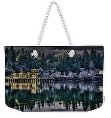 Weekender Tote Bag featuring the photograph The Navy Base P1 by Timothy Latta