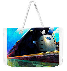 The New 20th Century Limited New York Central System 1939 Leslie Ragan Weekender Tote Bag by Peter Gumaer Ogden Collection