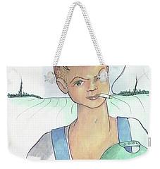 The New Farmer Weekender Tote Bag by Loretta Nash