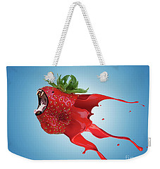 Weekender Tote Bag featuring the photograph The New Gmo Strawberry by Juli Scalzi