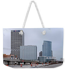 Weekender Tote Bag featuring the photograph The New Milwaukee Skyline by Randy Scherkenbach