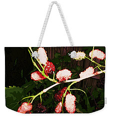 Weekender Tote Bag featuring the digital art The New Mulberries by Winsome Gunning