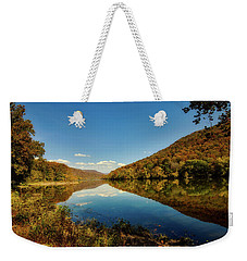The New River In Autumn Weekender Tote Bag by L O C