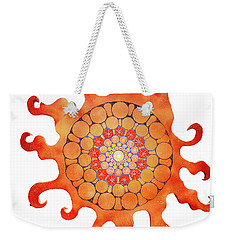Weekender Tote Bag featuring the painting The New Sun by Patricia Arroyo