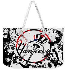 The New York Yankees 1b Weekender Tote Bag by Brian Reaves