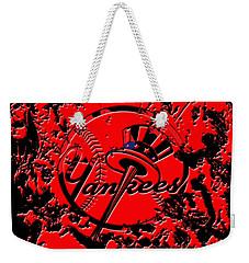 The New York Yankees B1 Weekender Tote Bag by Brian Reaves