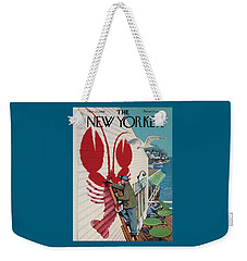 The New Yorker Cover - March 22nd, 1958 Weekender Tote Bag