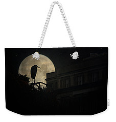 Weekender Tote Bag featuring the photograph The Night Of The Heron by Chris Lord