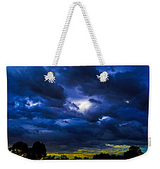 Weekender Tote Bag featuring the photograph The Night Of The Storm by Mark Blauhoefer