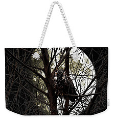 The Night Owl And Harvest Moon Weekender Tote Bag