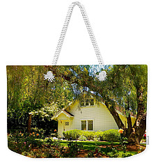 Weekender Tote Bag featuring the photograph The Nixon Home  President Richard Nixon  by Iconic Images Art Gallery David Pucciarelli