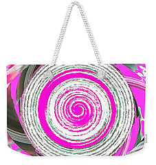 Weekender Tote Bag featuring the painting The Noise by Catherine Lott